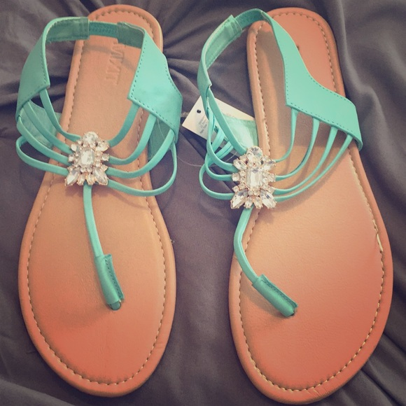 91ac2190a52c Jeweled sandals. NWT. jcpenney